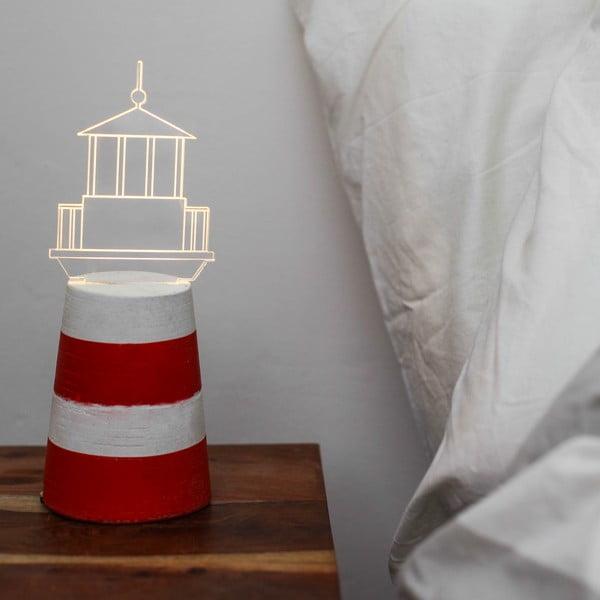 Náladové světlo Red Lighthouse