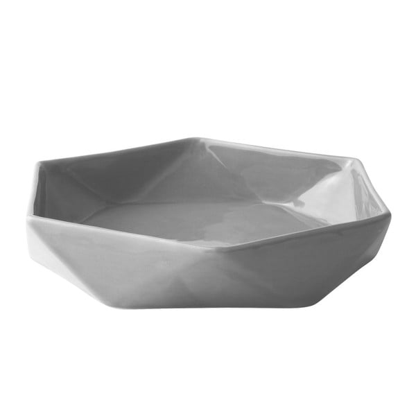 Tác na svíčky KJ Collection Geometric Grey, 22,5x4,6 cm