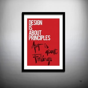 Plakát Art Design, ruční práce, 70x50 cm