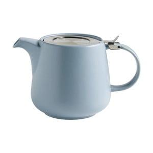 Modrá keramická konvice se sítkem na sypaný čaj Maxwell&Williams Tint, 1,2l