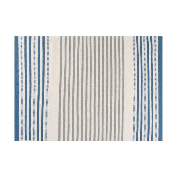 Ručně tkaný vlněný koberec Story Sky, 200x300cm