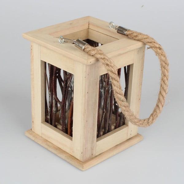 Drevený závesný lampáš Dakls Asme