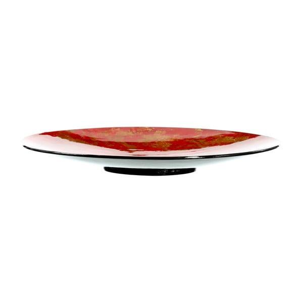 Červený dekorativní tác Ixia Composite