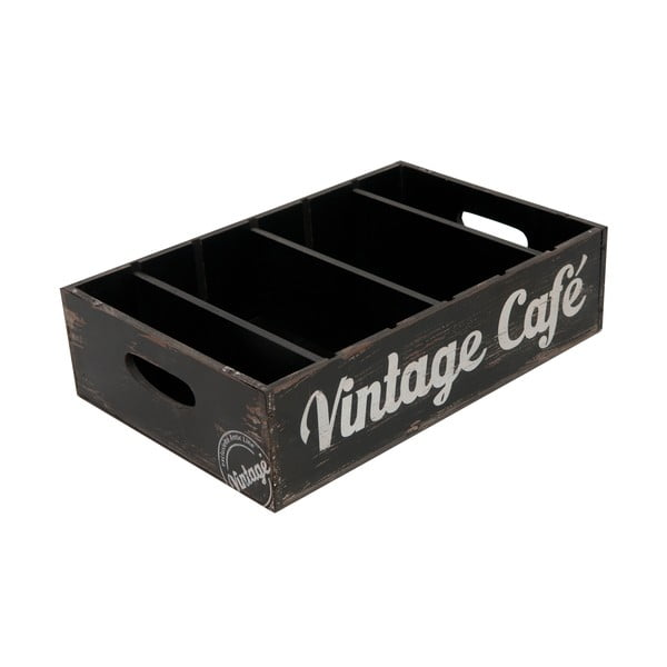 Dekorační přepravka Vintage café
