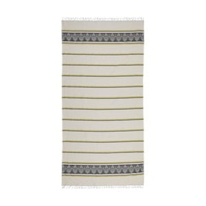 Šedobéžová hammam osuška Deco Bianca Loincloth Stripe Nurbanu, 80x170cm