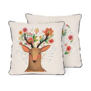 Oboustranný polštář Little Nice Things Deer Dream, 45 x 45 cm
