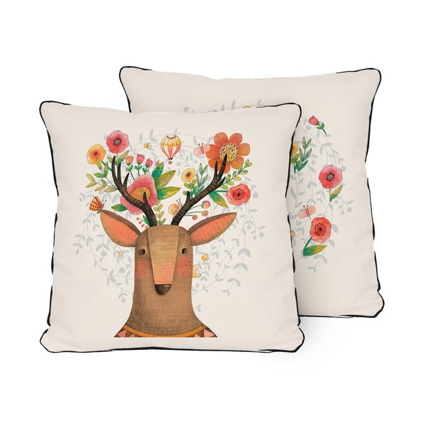 pern 2 fe e little nice things deer dream 45 x 45 cm bonami. Black Bedroom Furniture Sets. Home Design Ideas