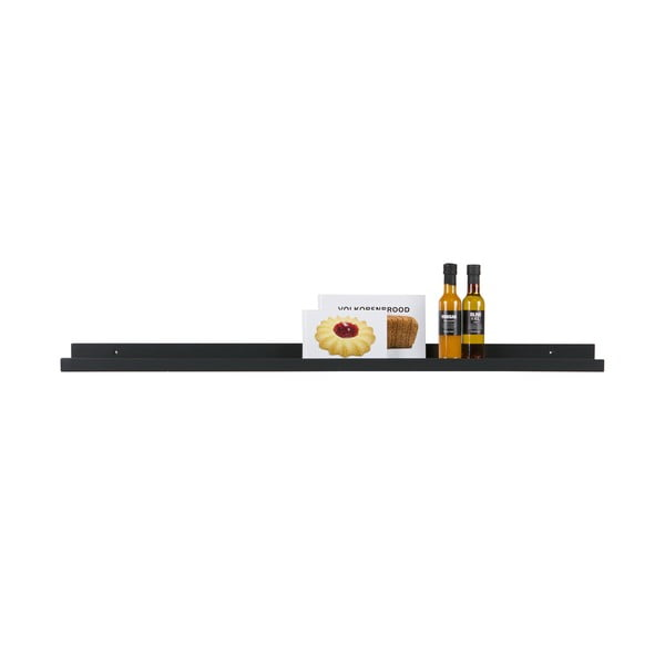 Raft de perete WOOOD Studio, 120 cm, negru