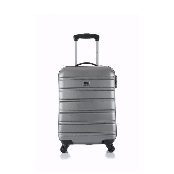 Stříbrný příruční kufr na kolečkách BluestarBilbao, 35l