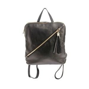 Černý kožený batoh Tina Panicucci Helga