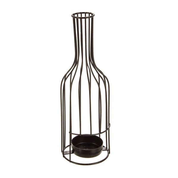 Svícen Glamour Bottle, černý