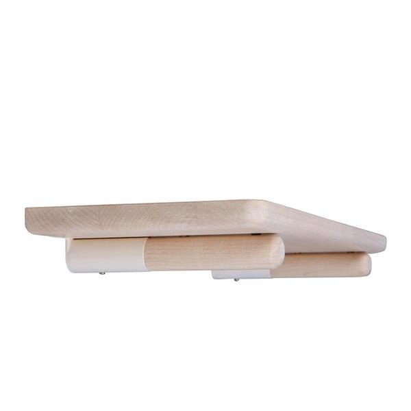 Nástěnná polička z platanového dřeva Nørdifra Sticks