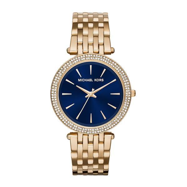 Dámské hodinky ve zlaté barvě s modrým ciferníkem Michael Kors Darci
