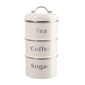 Sada 3 dóz Cream Tea, Coffee and Sugar, 14x28 cm