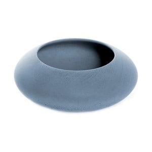 Modrá betonová miska Iris Hantwerk, Ø13.5 cm