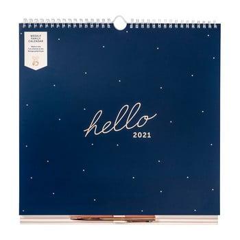Calendar lunar de familie Busy B, 52 file, albastru imagine