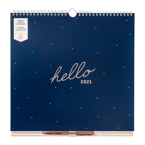 Týdenní modrý kalendář Busy B, 52 stran