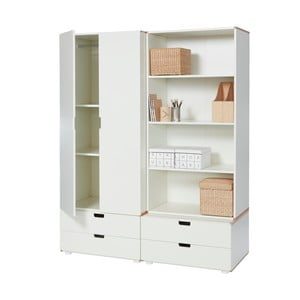 Bílá šatní skříň vhodná do dětského pokoje Manis-h Hera