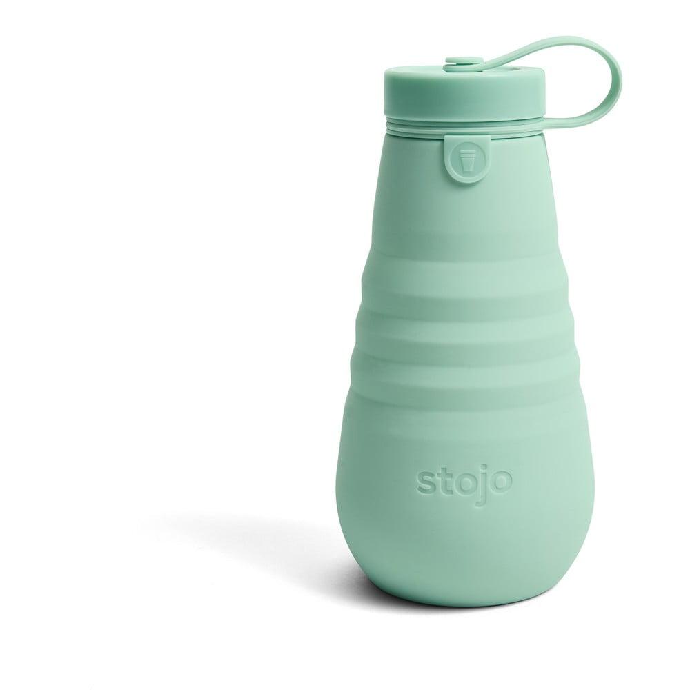 Zelená skládací láhev Stojo Bottle Seafoam, 590 ml