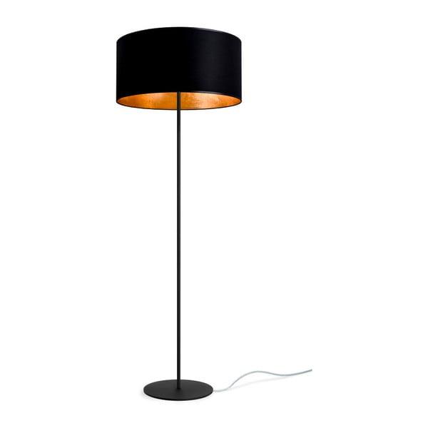 Černo-zlatá volně stojící lampa Sotto Luce MIKA Elementary Xl 1F