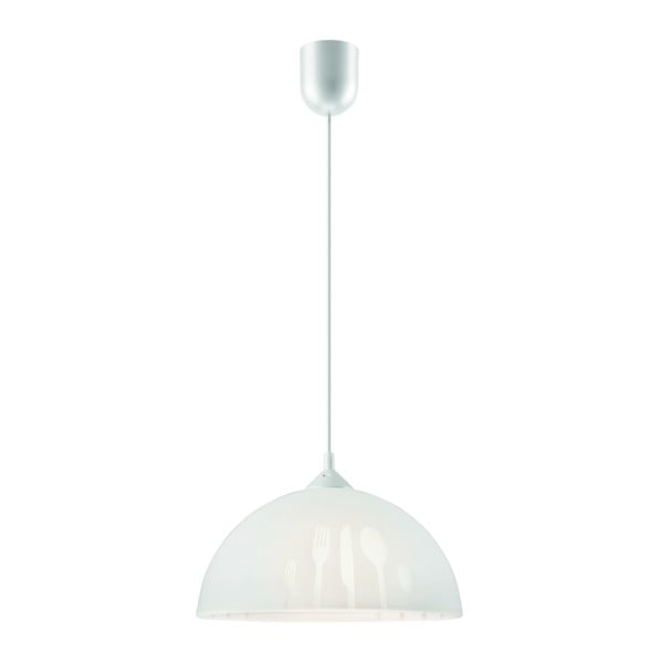 Bílé závěsné svítidlo Lamkur Forks