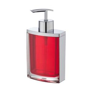 Červený dávkovač na mýdlo Wenko Bristol Red