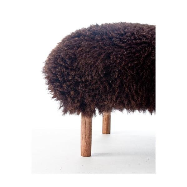 Stolička z ovčí kůže Bonwen Chocolate