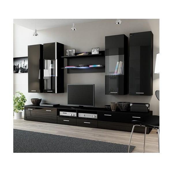 Obývací stěna Rea 2, černá