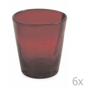 Sada 6 sklenic Villa d'Este Cancun Rosso Rubino