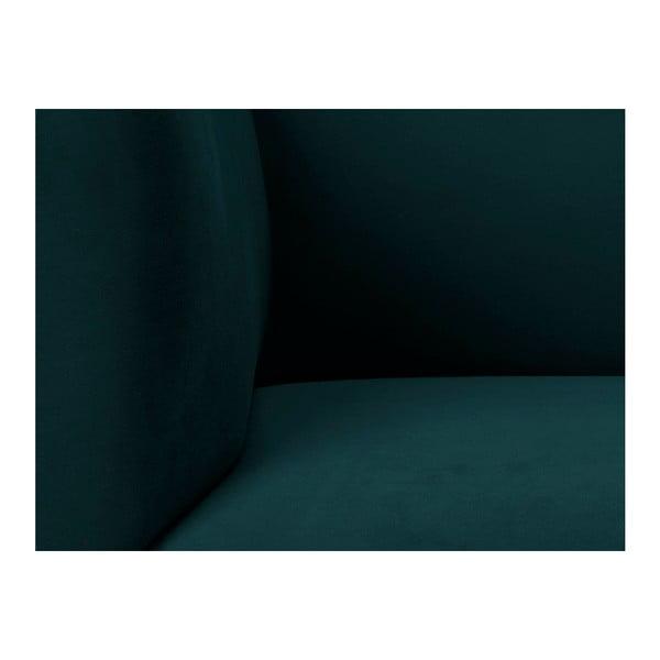 Petrolejově zelená sametová třímístná pohovka Windsor & Co Sofas Neptune