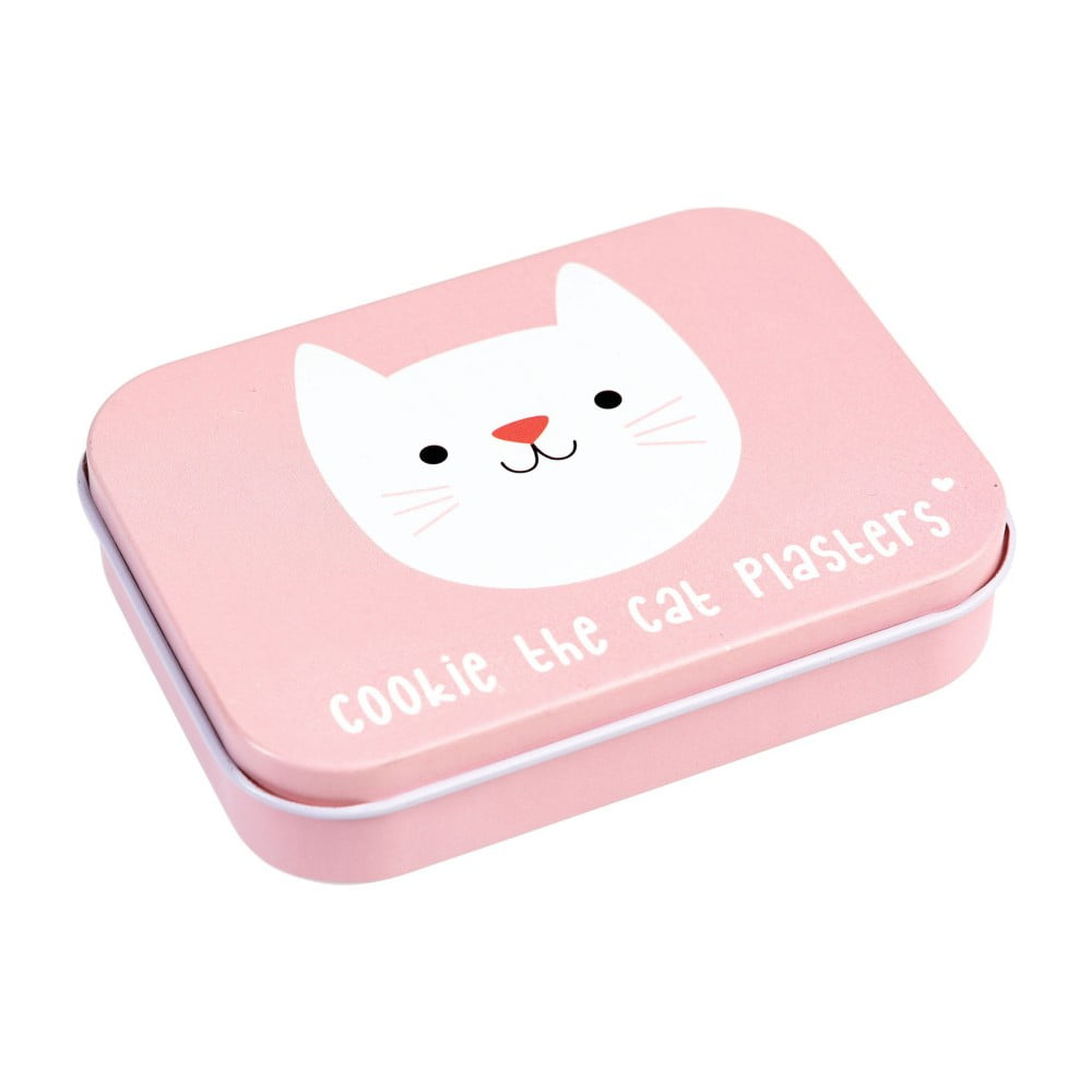 Růžový box na náplasti Rex London Cookie the Cat