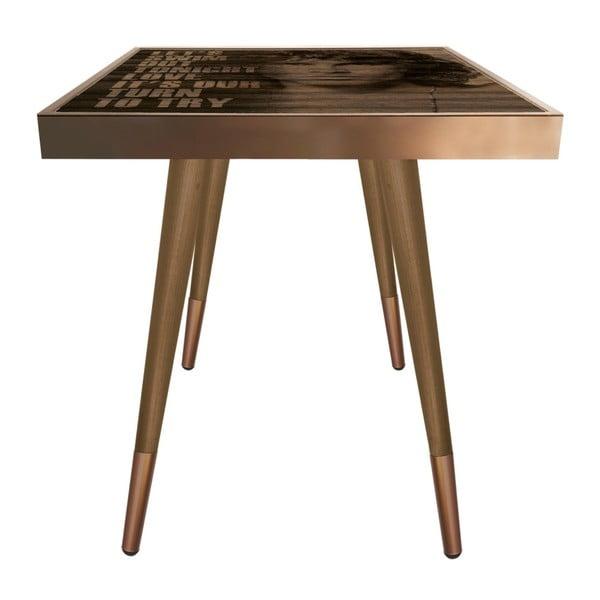 Príručný stolík Caresso Jim Morrison Square, 45 × 45 cm