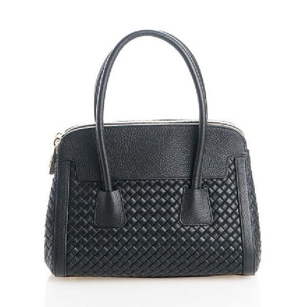 Kožená kabelka Beata, černá