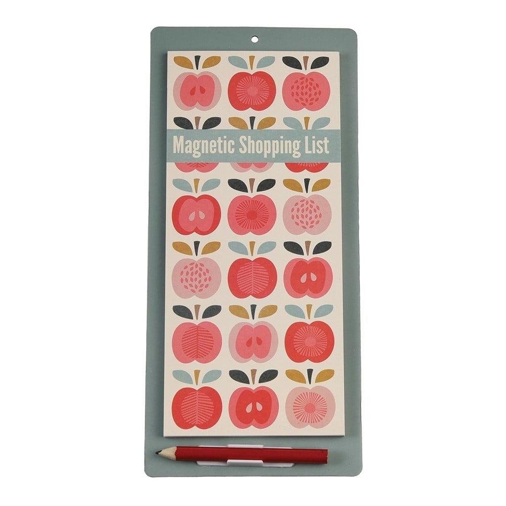 Magnetický blok na nákupní seznam Rex London Vintage Apple