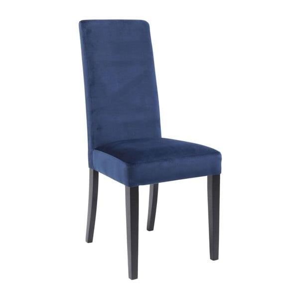 Sada 2 modrých jídelních židlí s nožičkami z bukového dřeva Kare Design Velvet