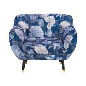 Fotoliu Mazzini Sofas Benito Floral, albastru