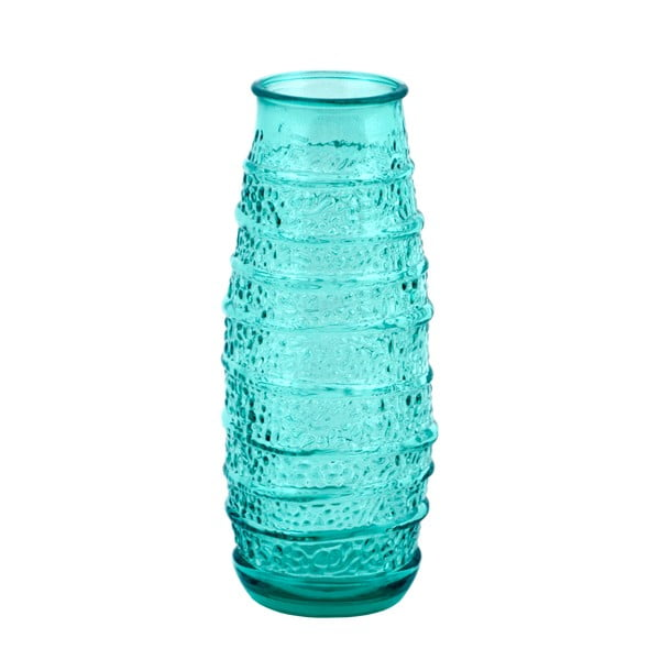 Tyrkysová karafa z recyklovaného skla Ego Dekor Organic, 300 ml