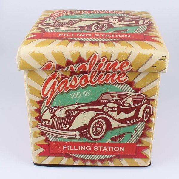 Taburetka na sezení s úložným prostorem Dakls Gasoline