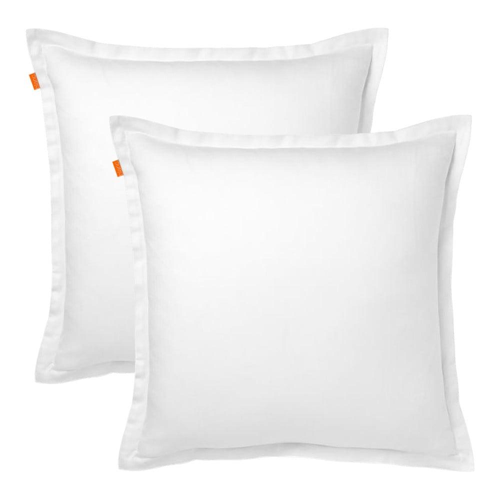 Sada 2 bílých bavlněných povlaků na polštář HF Living Basic, 60x60cm