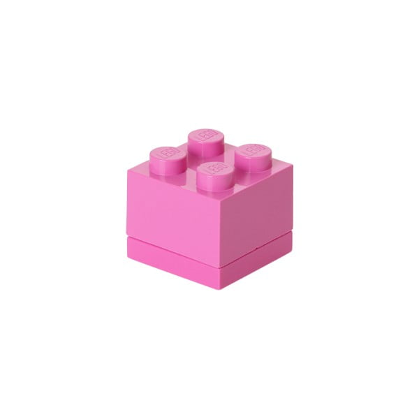 Ružový úložný box LEGO® Mini Box II