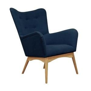 Modré křeslo Helga Interiors Karl
