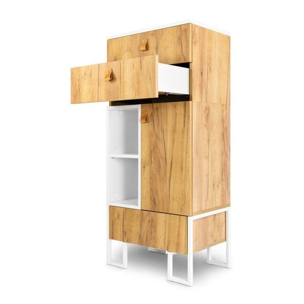 Komoda se 3 zásuvkami z dubového dřeva SKANDICA Hesse, výška135cm