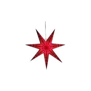 Červená svítící hvězda Best Season, ⌀ 60 cm