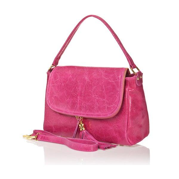 Kožená kabelka Bela, růžová