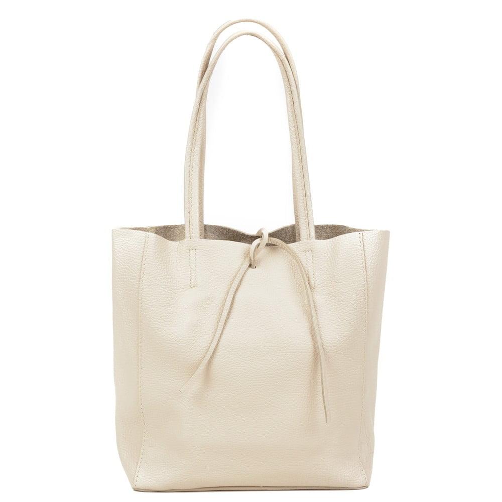 Krémově bílá kožená kabelka Sofia Cardoni Simply