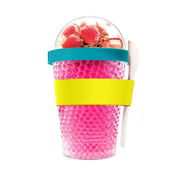 Termokelímek na jogurt Chill Yo 2 Go, růžový