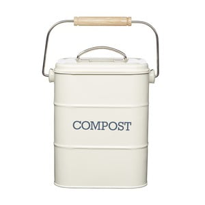 ,Krémový domácí kompostér Kitchen Craft Living Nostalgia, 3 l