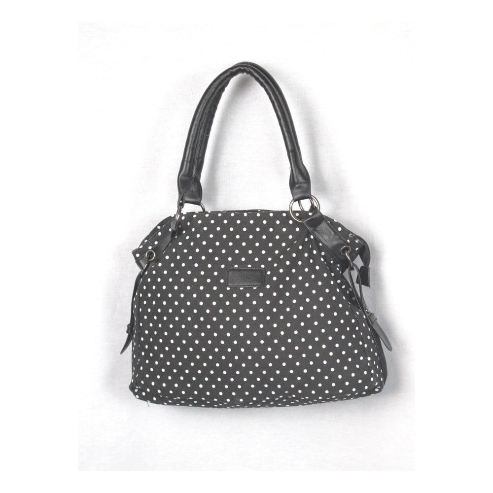 Černá plátěná taška Sorela Dotty Chic, šířka 38 cm