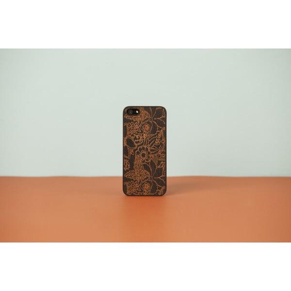 Dřevěný obal na iPhone 5/5S Floral Black