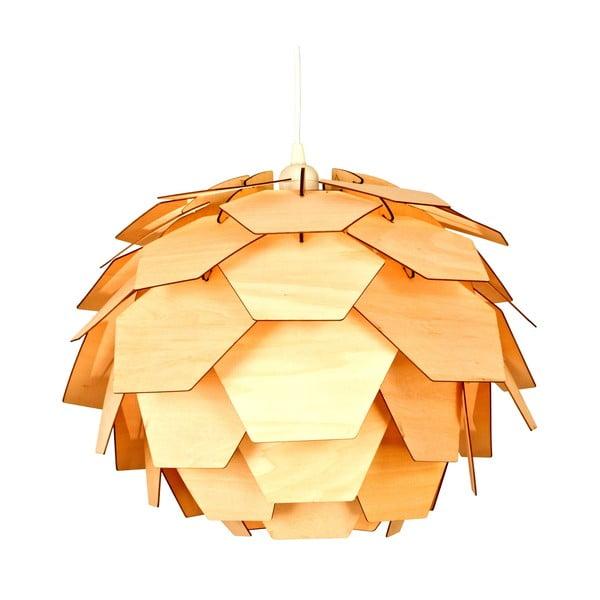 Závěsné svítidlo v dekoru dřeva ScanLamps Carpatica, ⌀41cm